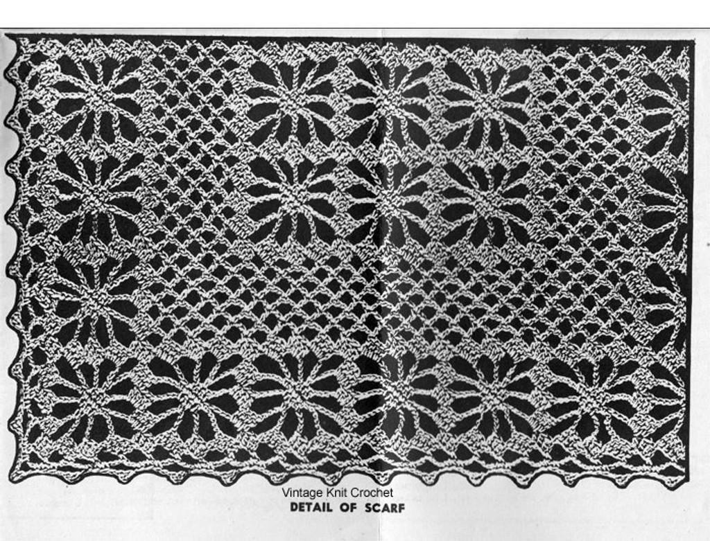Crochet Scarf Mats Pattern Alice Brooks Design 7050