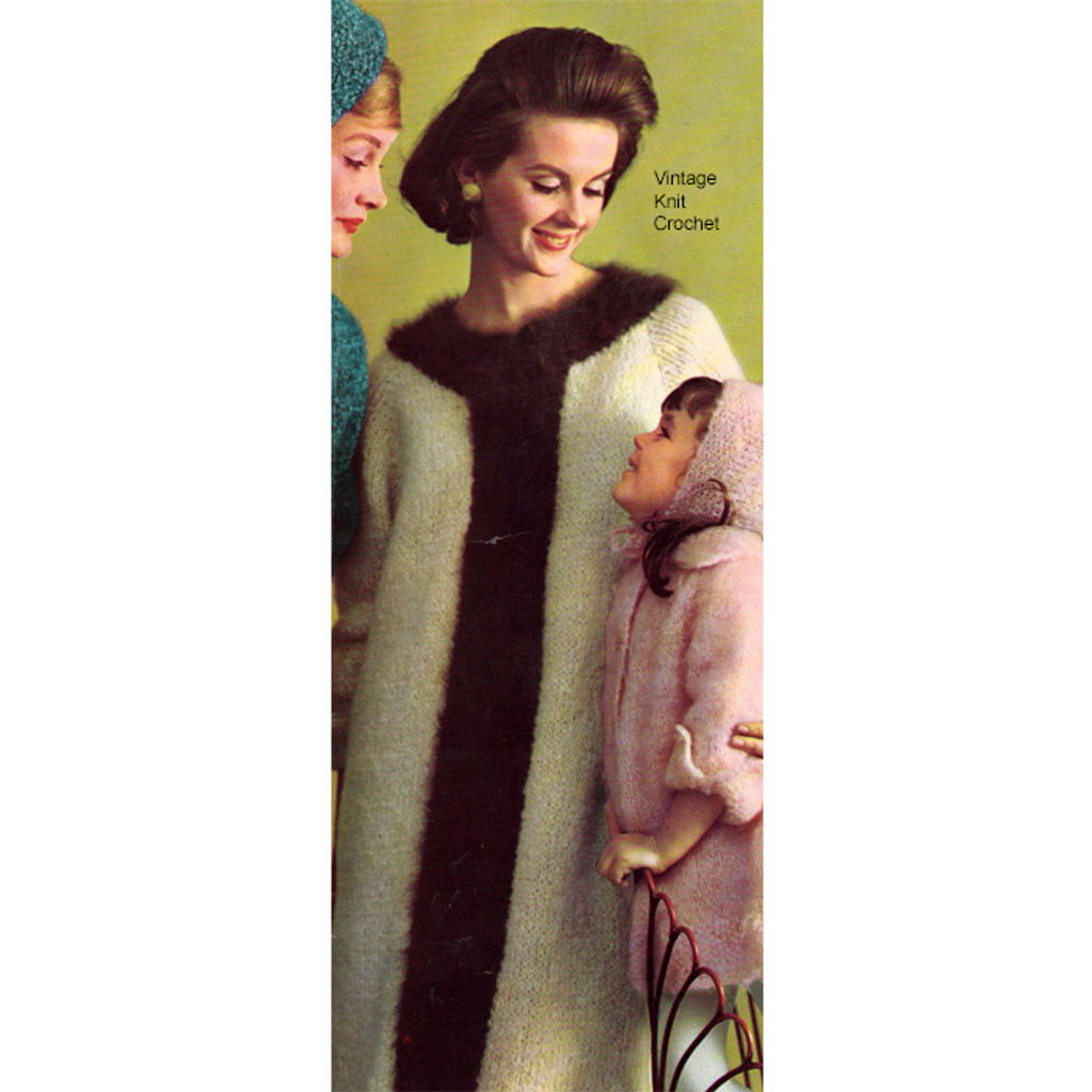 Vintage Knitted Mohair Coat Pattern
