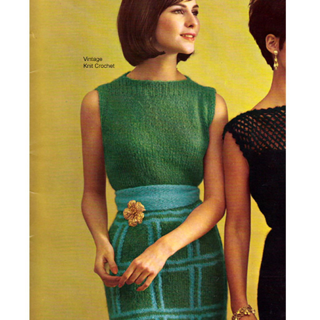 Knitted Mohair Evening Dress Pattern Style 1776