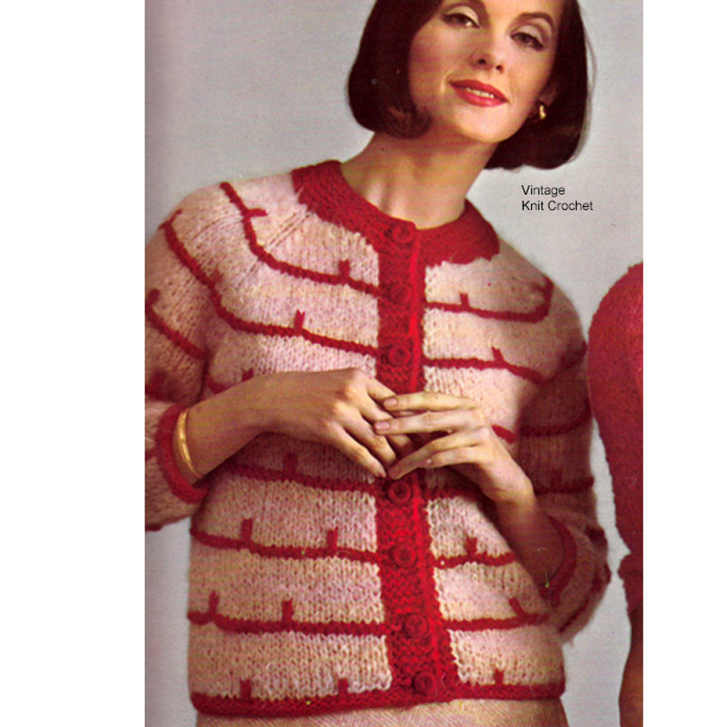 Striped Mohair Cardigan Pattern