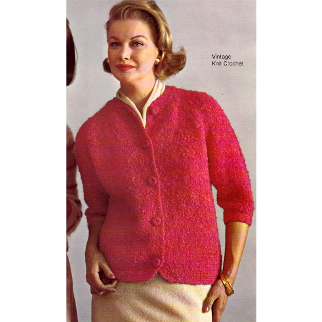 Easy Nubby Knit Cardigan Pattern