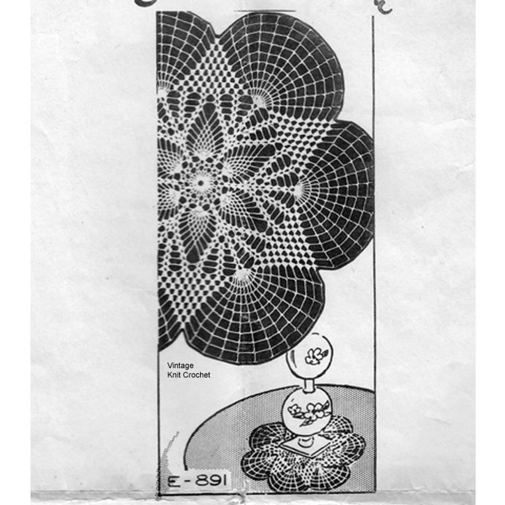 Crochet Star Doily Pattern, Ellen Bruce E-891