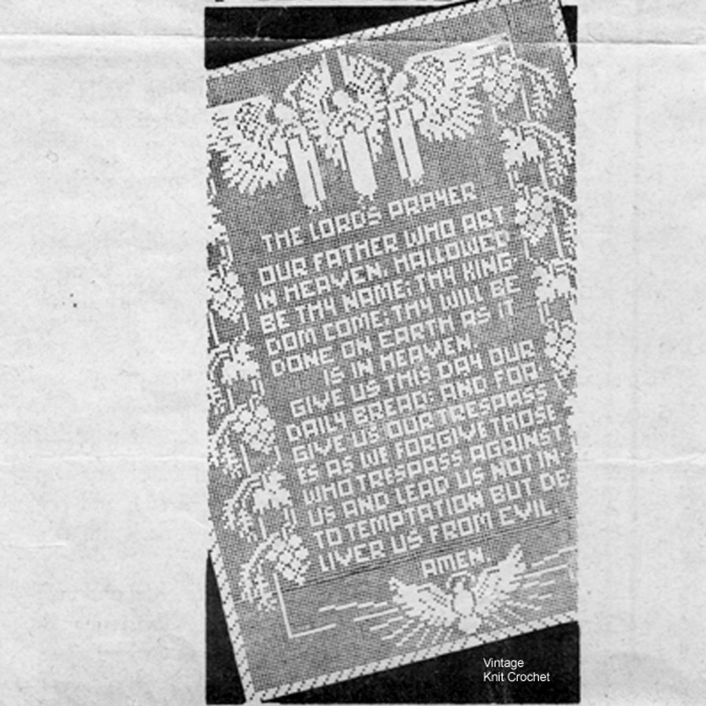The Lords Prayer In Filet Crochet Pattern Mail Order 7288