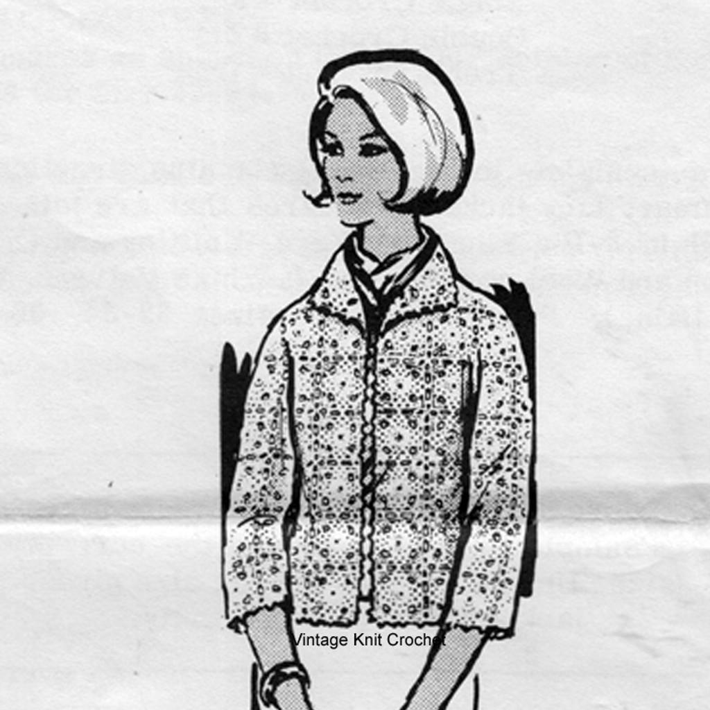 Plus Size Crochet Jacket Pattern, Alice Brooks 7374.