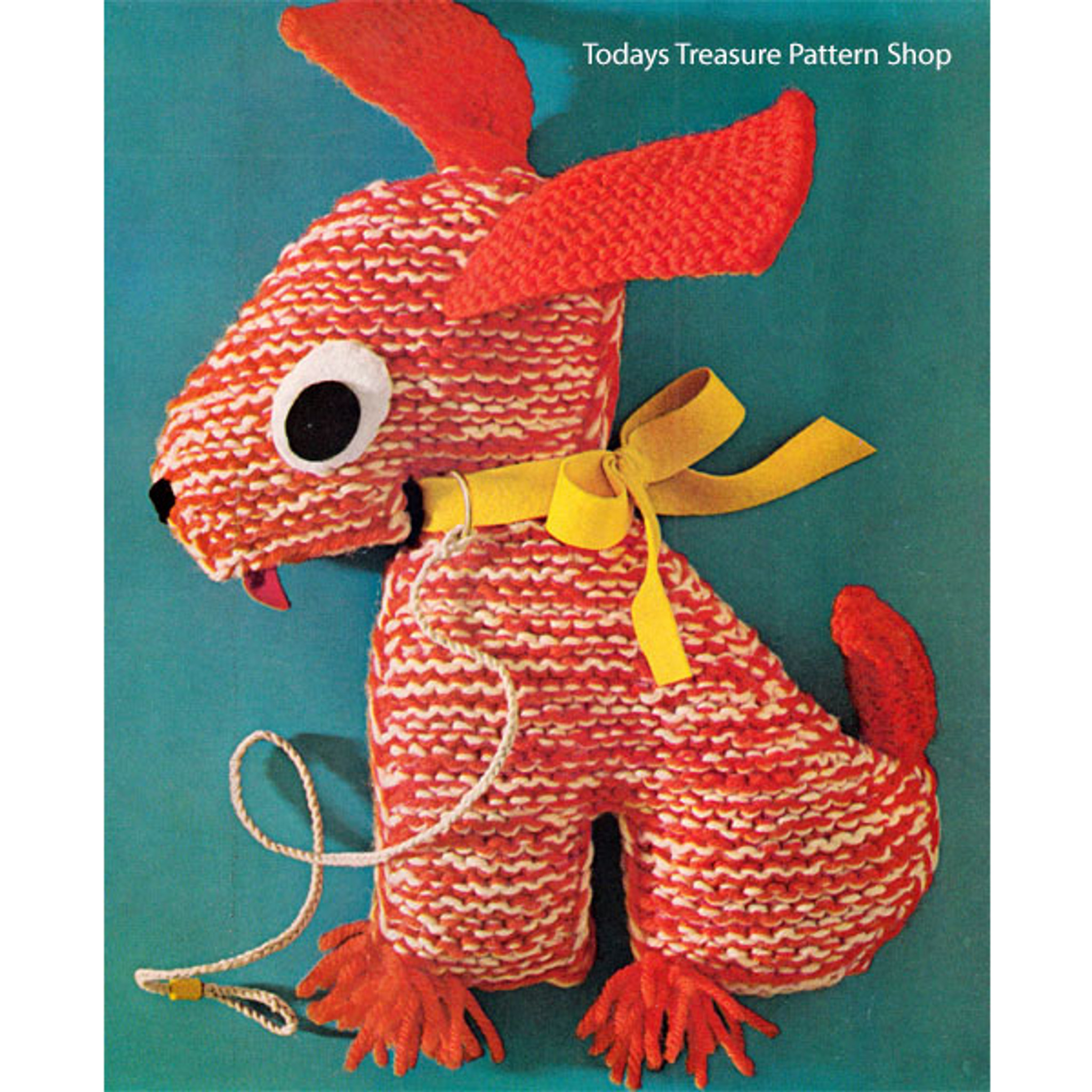 Basset Hound Dog Knitting Pattern Stuffed Toy