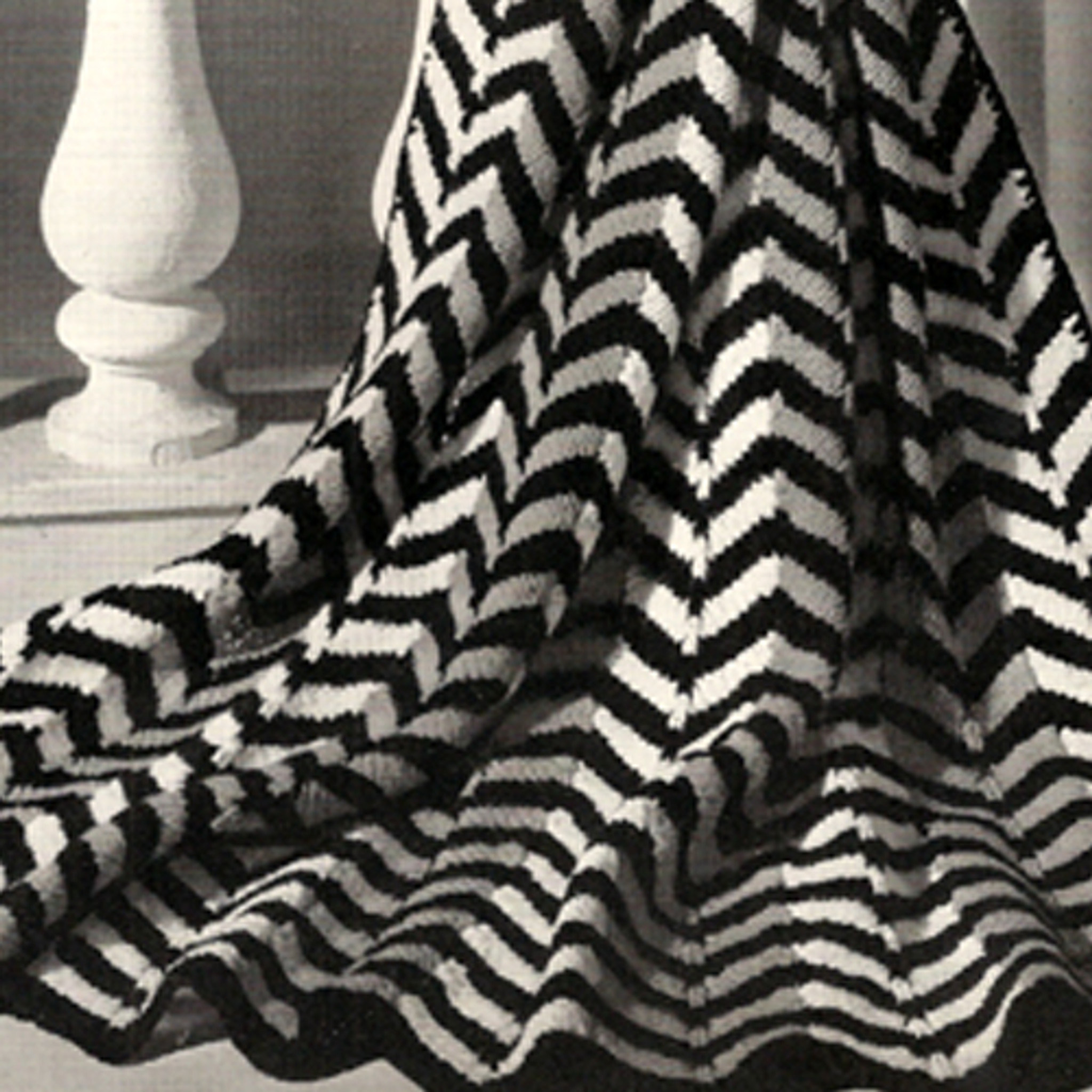 Attractive Knitted Zig Zag Blanket Pattern Image Collection Easy
