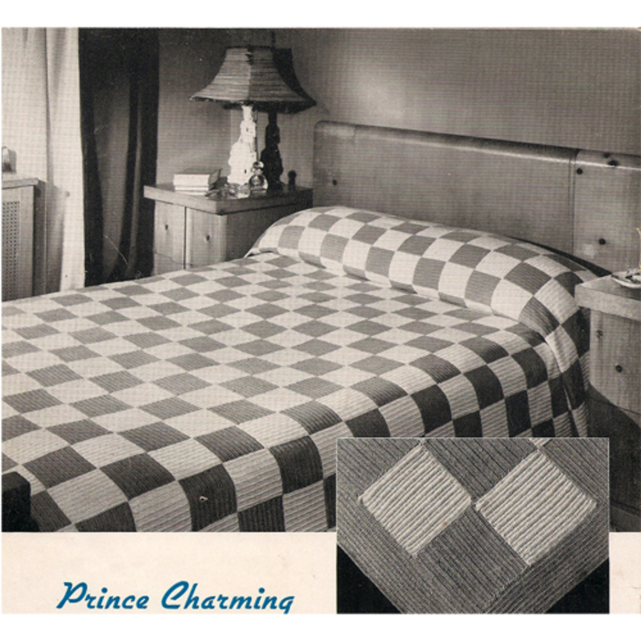 Easy Checkerboard Block Bedspread Crochet Pattern