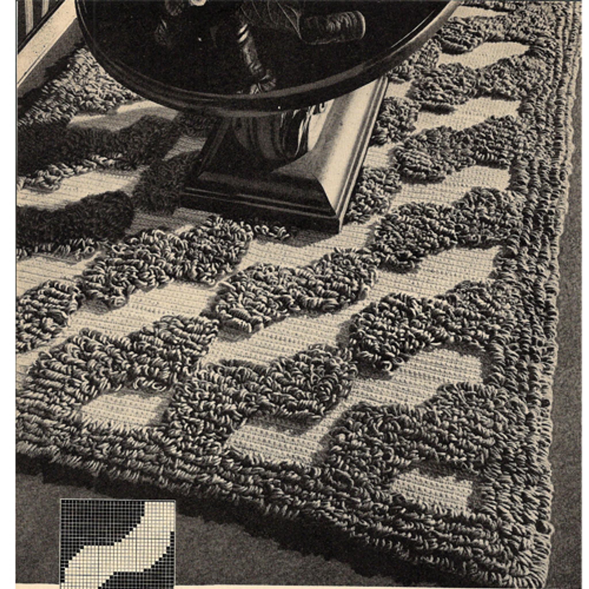 Large Crochet Rug Pattern With Loop Stitching