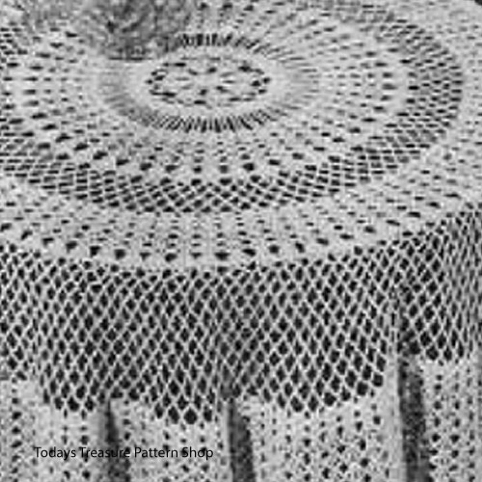 Round Cloth Crochet Pattern Vintage Knit Crochet Pattern Shop