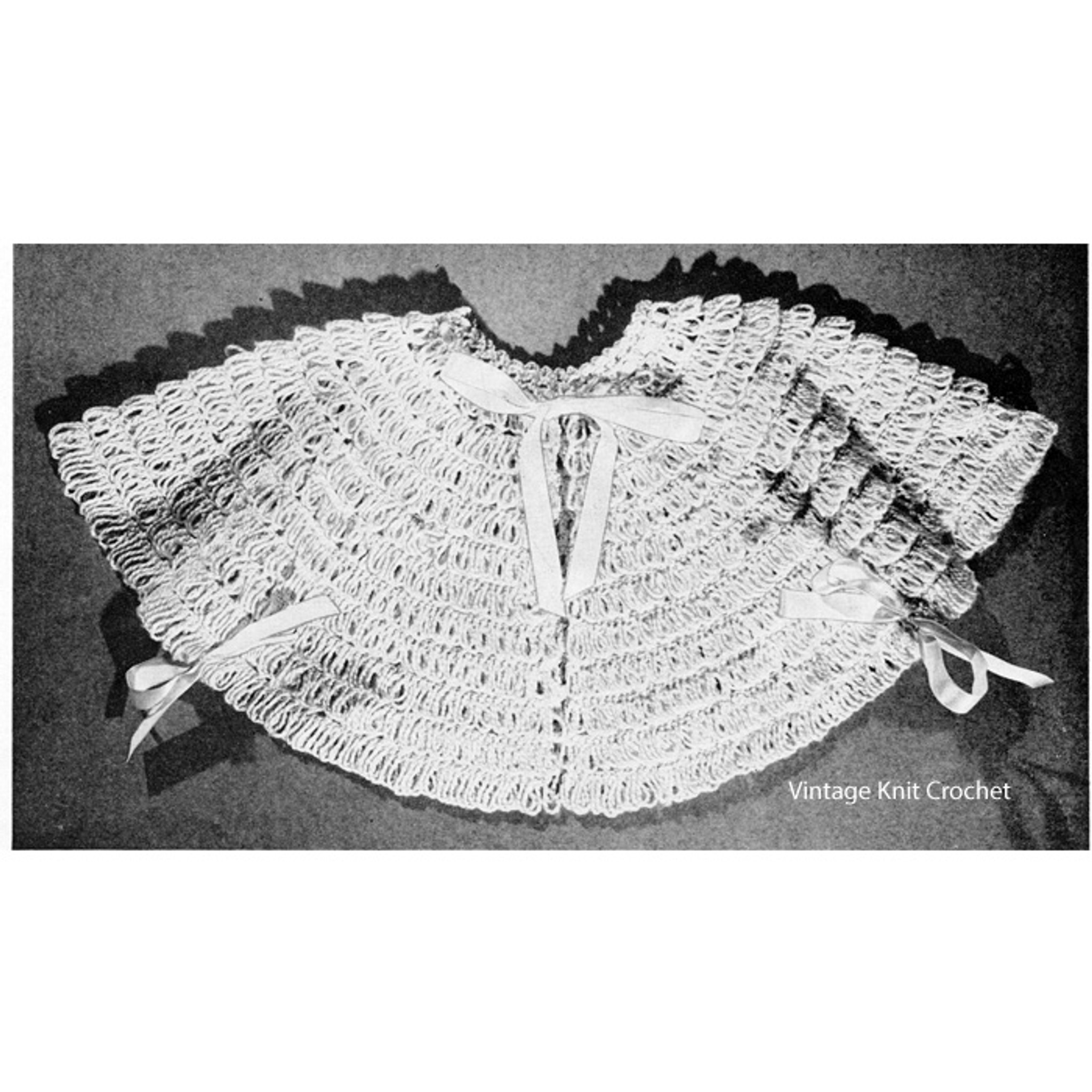 Vintage Crocheted Baby Sacque Pattern