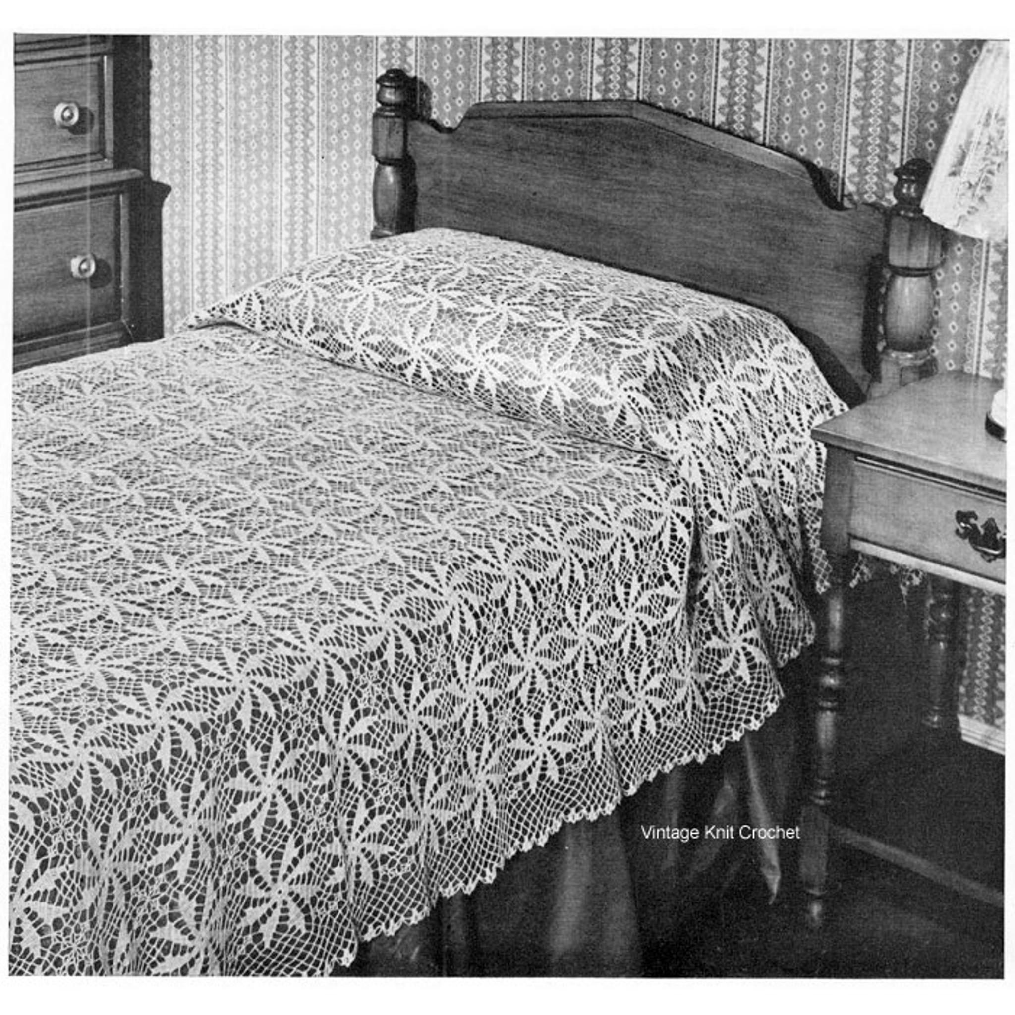 Crochet Bedspread Pattern, Nocturne No 6105