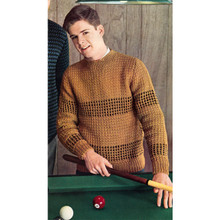 Teen Knitted Honeycomb Pullover Pattern