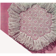 Flower Medallion Ruffled Crochet Doily Pattern
