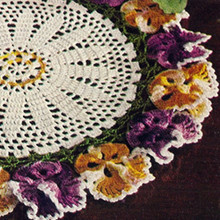 Vintage American Thread Pansy Doily Pattern