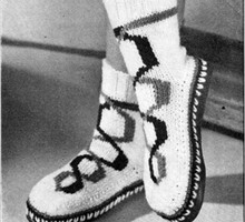 Hi-Top Knitted Boots Pattern