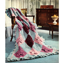 Vintage Nantucket Afghan Knitting Pattern