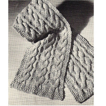 Free Knitted Cable Scarf Pattern