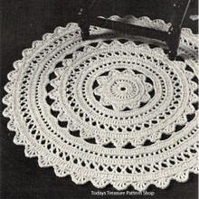 Crochet Doily Rug Pattern, Vintage 1950s