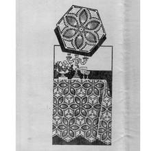 Vintage Crochet Flower Pineapple Medallion Pattern