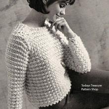 Vintage Puff Stitch Sweater Pattern