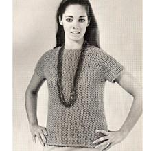 Two Skein Crochet Blouse Pattern
