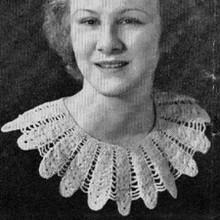 Vintage Crochet Petal Collar Pattern