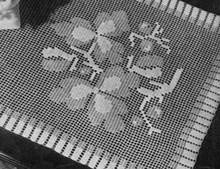 Filet Crocheted Runner Pattern, Vintage 1940
