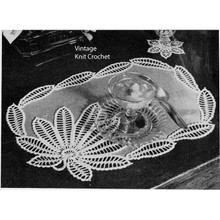 Linen Crocheted Flower Mats Pattern