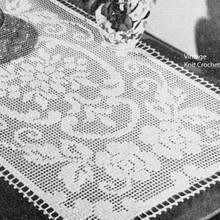 Darned Rose Scroll Centerpiece Doily pattern