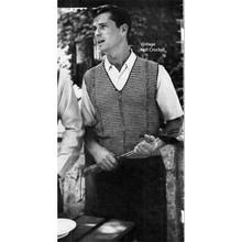 Mans Sleeveless Pullover Knitting Pattern in Nylaine