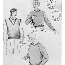 Mens Knitted Pullovers Patterns from Spinnerin