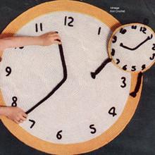 Vintage Clock Rug Crochet Pattern