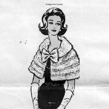 Knitted Capelet, Alice Brooks 7079