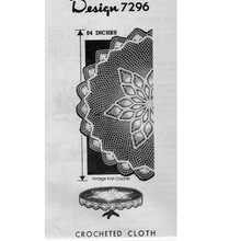 Alice Brooks 7296, Star Pineapple Crochet Cloth Pattern