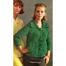 Raglan Sleeved Mohair Knitted Cardigan Pattern