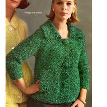 Knitting Pattern, Raglan Mohair Cardigan