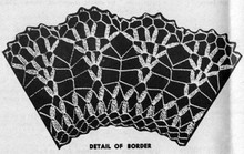 Petal Stitch Crochet Doily Border