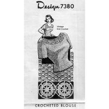 Crocheted Shell Blouse, Mail  Order Design Pattern 7380