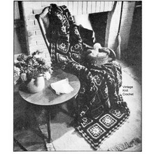 Vintage Granny Square Afghan Pattern in Knitting Worsted