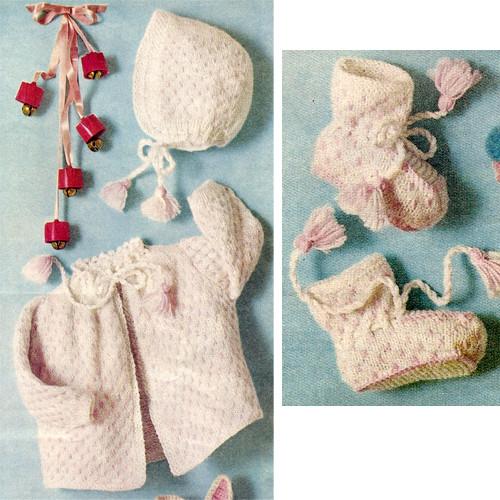 Baby Girl Knit Layette Knitting pattern