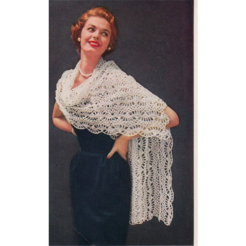 Long Hairpin Lace Stole Pattern