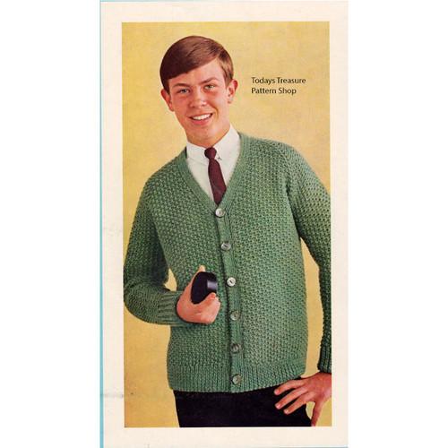 Boys Cardigan, Easy Knitting Pattern