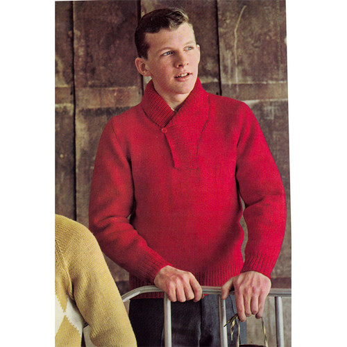 Teen Knitted Pullover Pattern with Yoked Collar