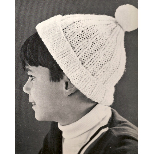 Boys Knitted Beanie Hat Pattern