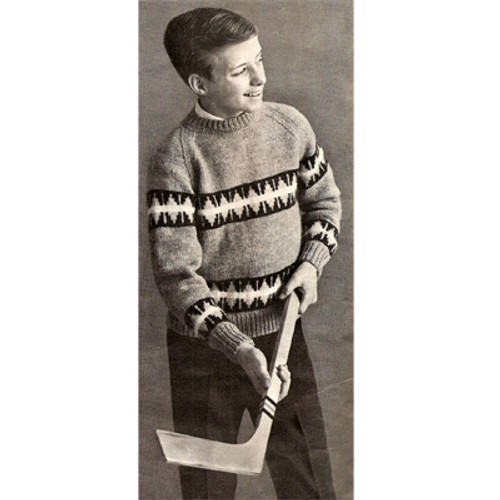 Boys Striped Pullover Knitting Pattern