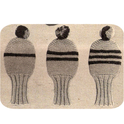 Vintage Knitted Golf Club Mitts Pattern