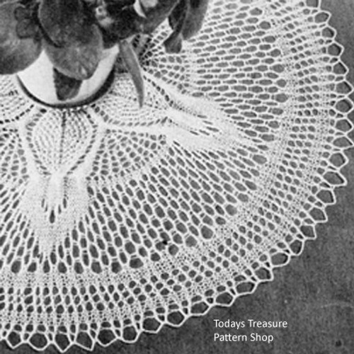 Cable Knitted Doily Pattern, Vintage 1950s