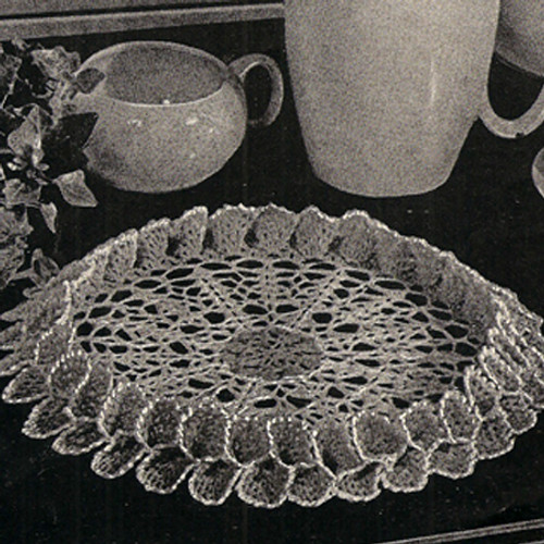Crochet Doily Pattern with Double Ruffle