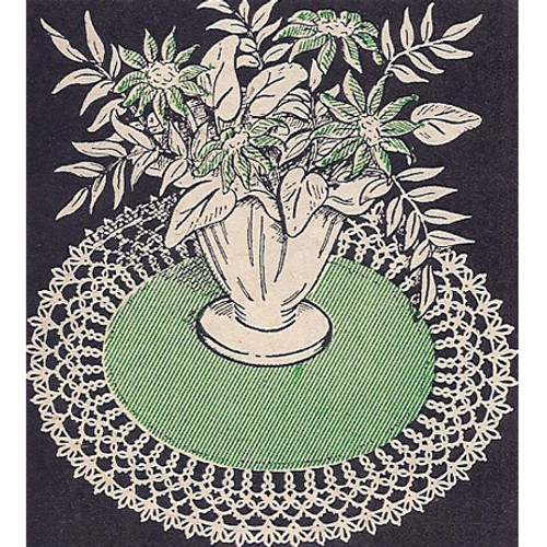Workbasket Tatted Linen Doily Pattern
