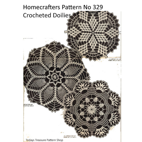 Mail Order 329, Three Crocheted Doilies